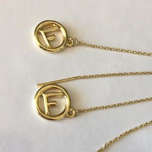 Fendi Jewelry - FENDI Gold long earrings and other earrings